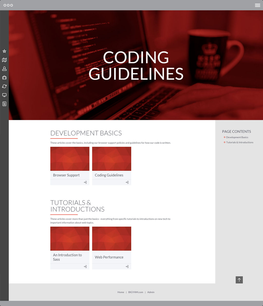 Development Resource Portal Coding Guidelines