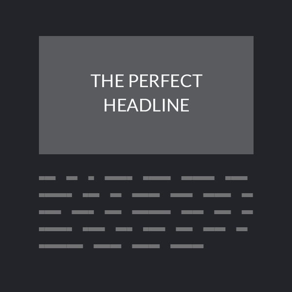 Design expectation: concise headlines
