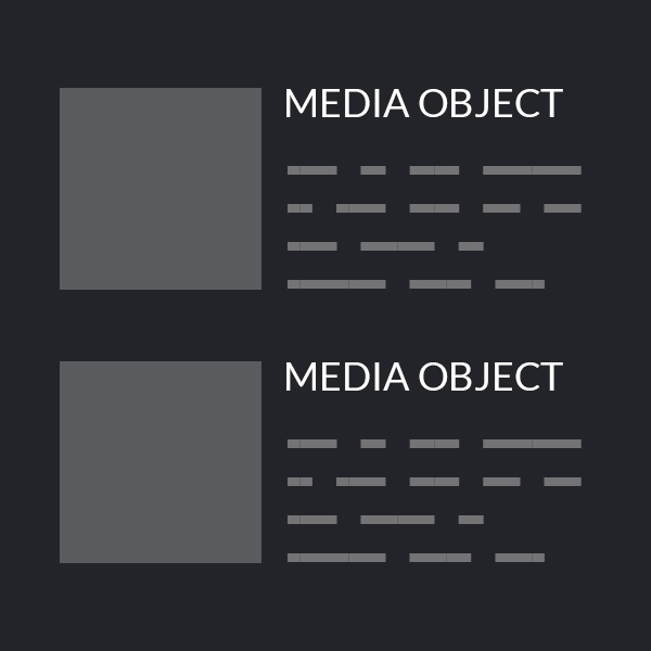 Design expectation: perfectly aligned media objects