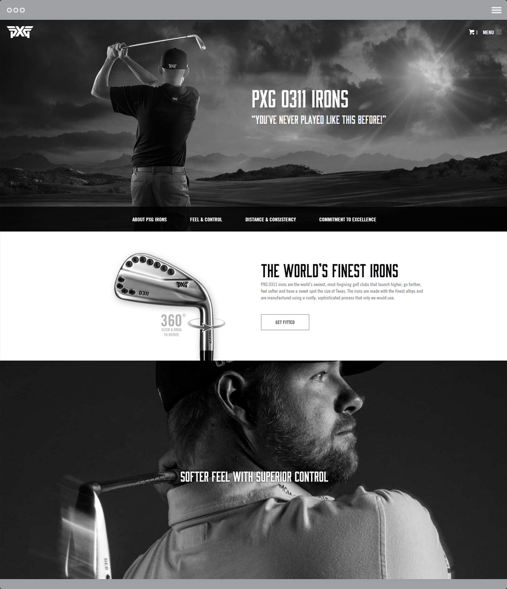 PXG Irons Page
