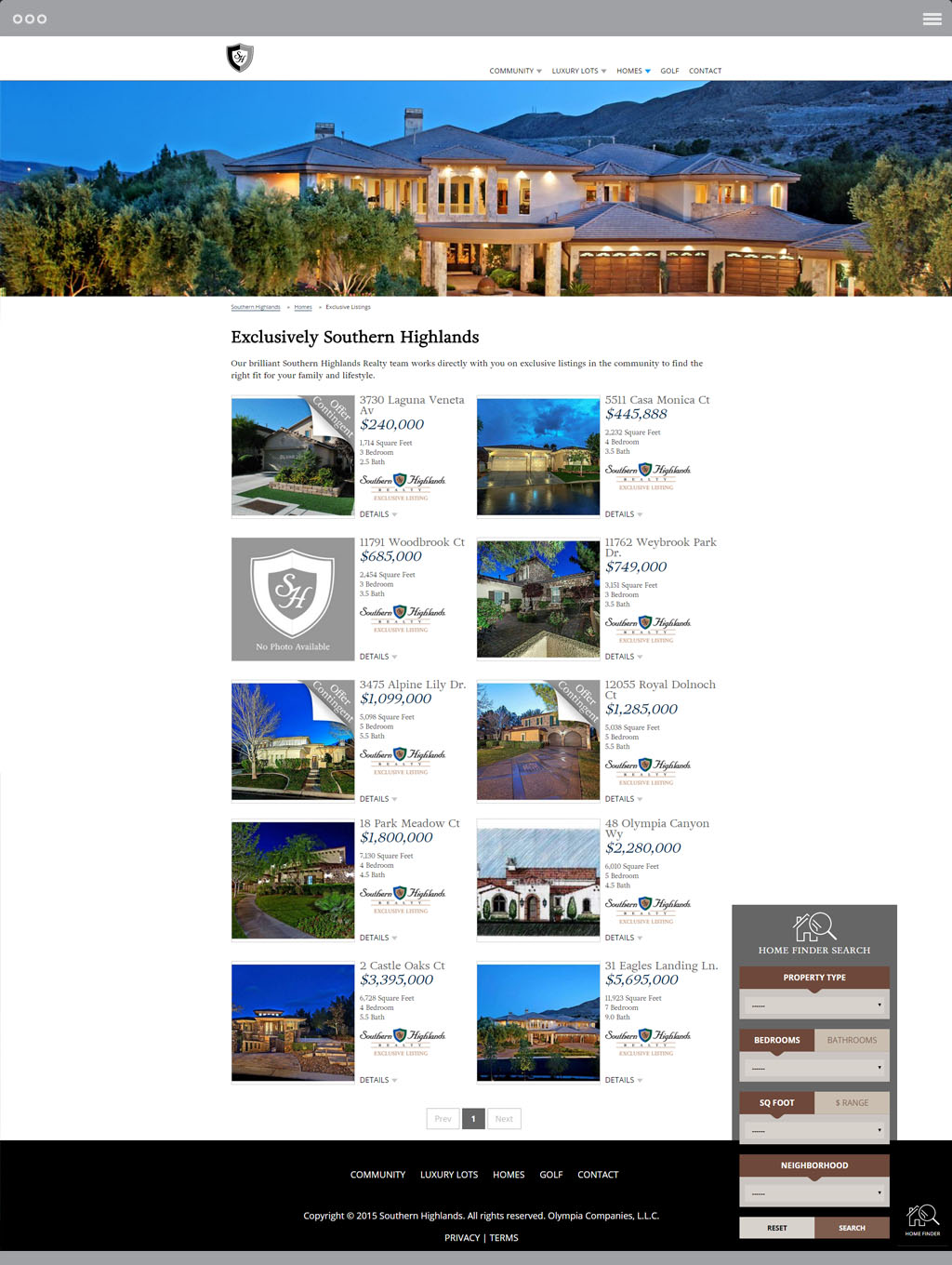 Southern Highlands Listings Page