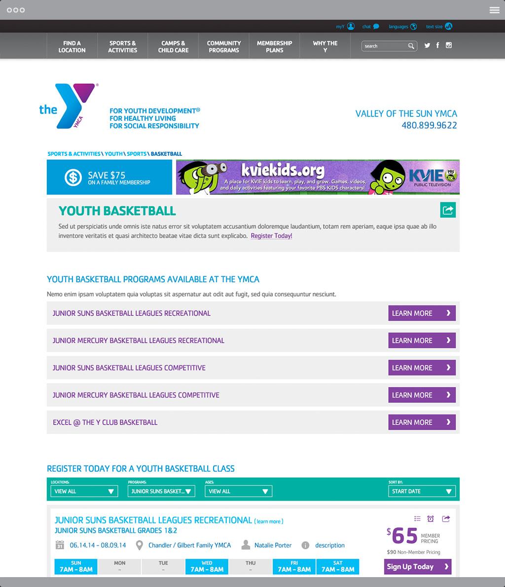 YMCA Activity Page