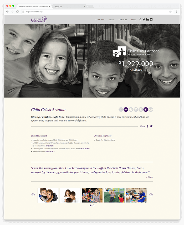 The Foundation Charity Page
