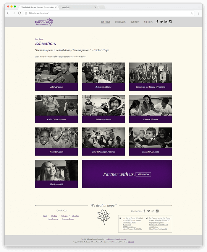 The Foundation Focus Page